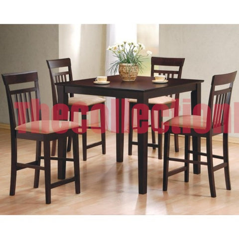Mocca 5-Piece Counter Height Dining Set