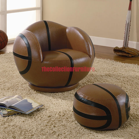 Basketball Chair and Ottoman