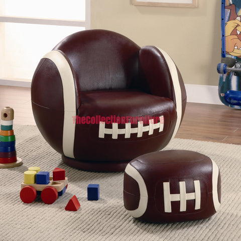 Football Chair and Ottoman