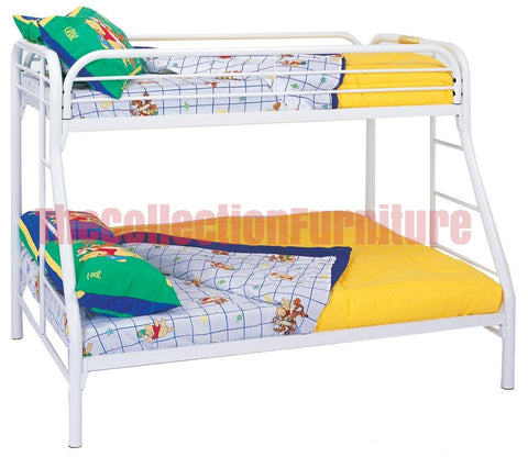 Carey White Bunk Bed
