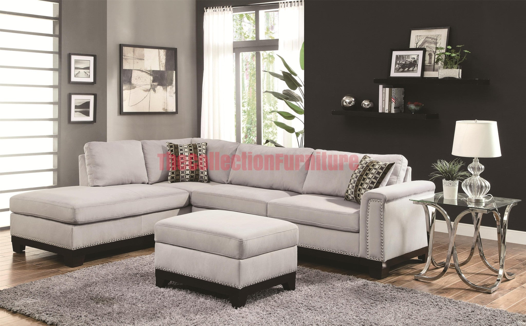 Mason Gray Sectional – The Collection Furniture