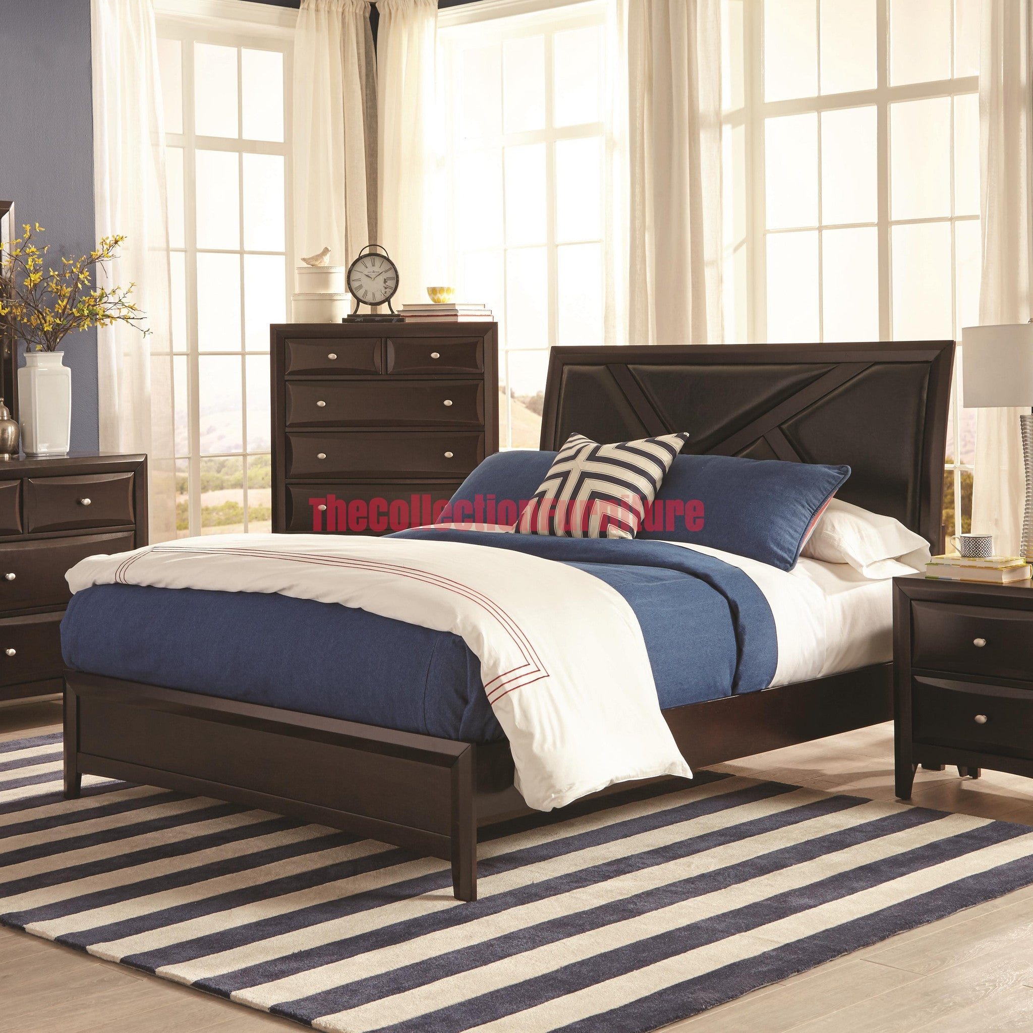 Rossville 4 piece bedroom set the collection furniture for Bedroom 4 piece set