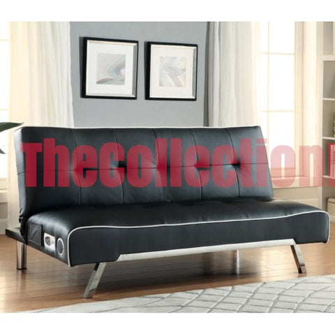 Abel Black Bluetooth Futon