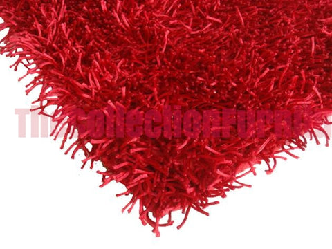 SHAGGY RUG RED