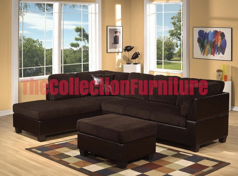 Connel Chocolate Corduroy Sectional