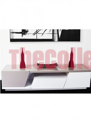 Joshua Grey and White TV Stand