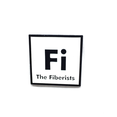 "1.25"" Fiberists Pin Glow-In-The-Dark White"