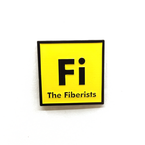 "1.25"" Fiberists Pin Yellow"