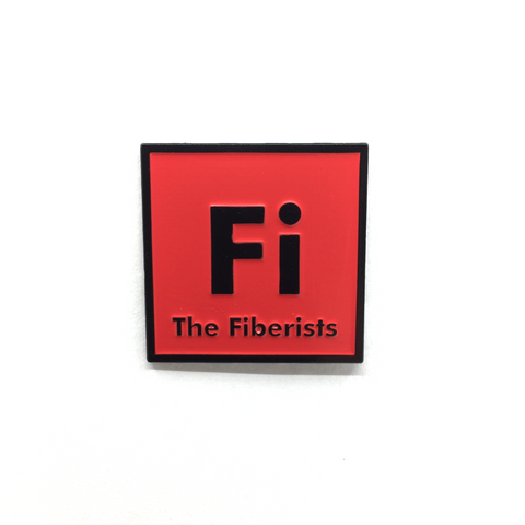 "1.25"" Fiberists Pin Red"