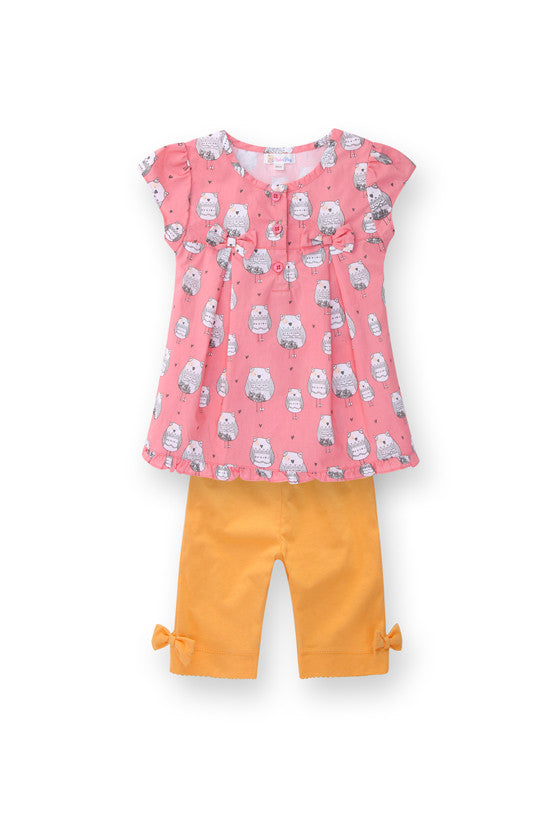 Baby Owl Clothes Set for Girls