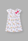 Printed Owl Baby Girl White Dress