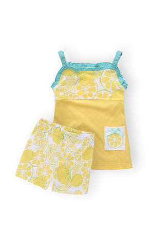 Girl's sets, 100% cotton tunic & cotton jersey shorts