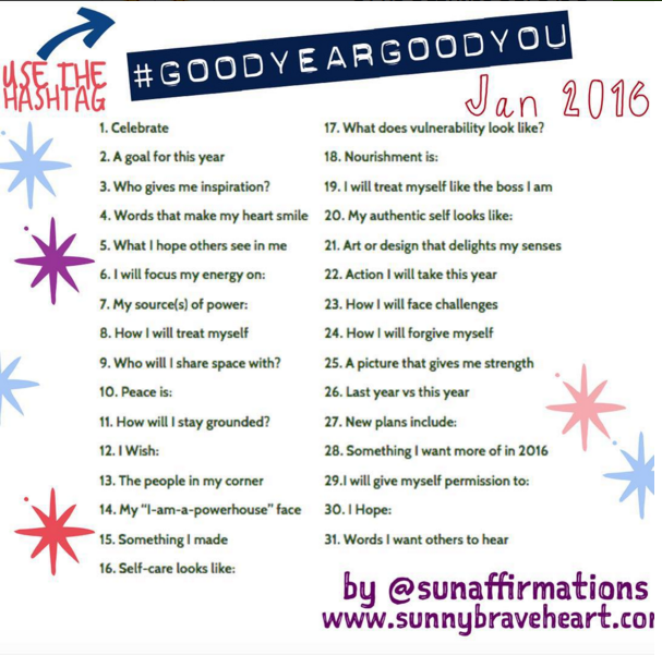 Good Year, Good You: An Instagram Play-Along to Celebrate YOU This Year