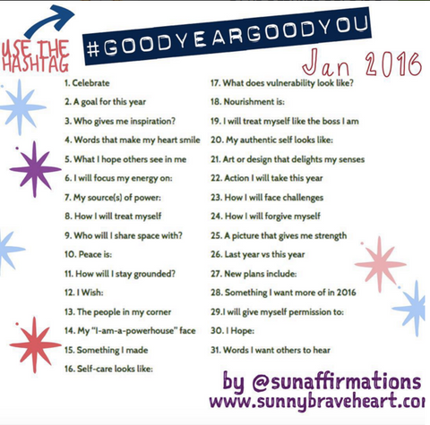 January Instagram challenge 2016 good year good you