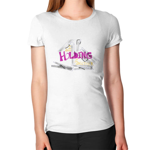 Holding It Together Hug Fit T-Shirt White - sunnybraveheart