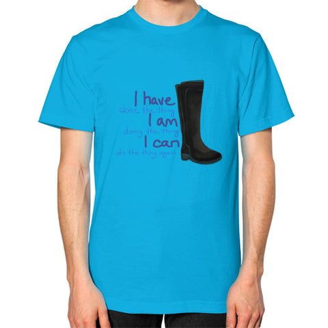 I Can Do ALL The Things Square Fit T-Shirt Teal - sunnybraveheart