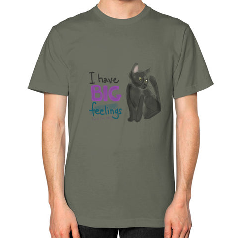 I Have Big Feelings Square Cut T-Shirt Lieutenant - sunnybraveheart