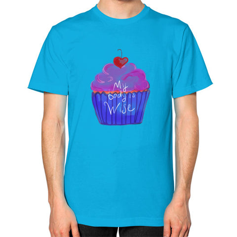 My Body Is Wise Square Fit T-Shirt Teal - sunnybraveheart