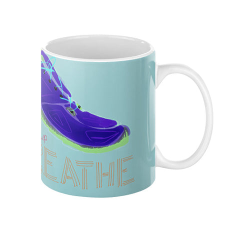 Show Up And Breathe Mug 11oz - sunnybraveheart