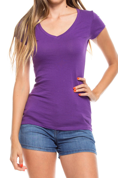 Basic v neck top - Destination Store