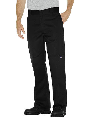 Loose fit double knee dickies pants black color style 85283 - Destination Store