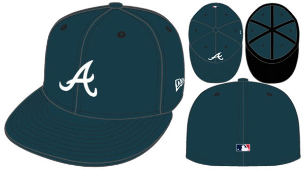 New era Atlanta Braves 5950 hats - Destination Store