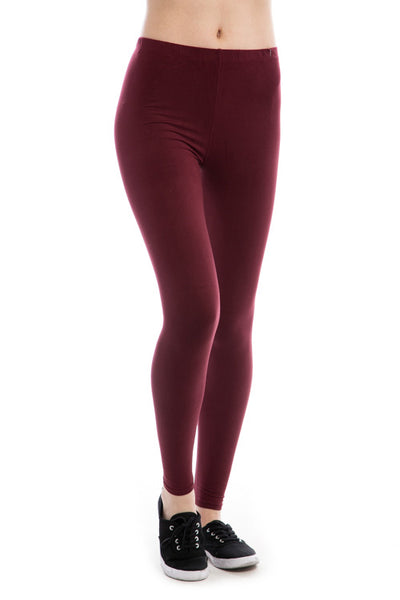 Solid Basic Leggings PLUS - Destination Store