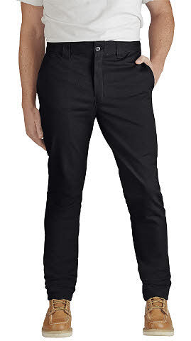 801 Flex skinny straight fit black work pants