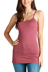 Basic cami top with adjustable spaghetti strap - Destination Store
