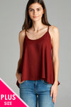 Scoop neck plus size top