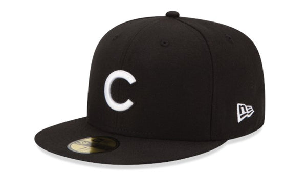 New era Chicago Cubs 5950 black hat - Destination Store