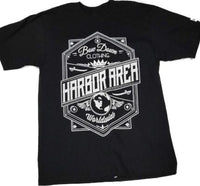 Harbor area-crown short sleeve T shirt by Bow down - Destination Store