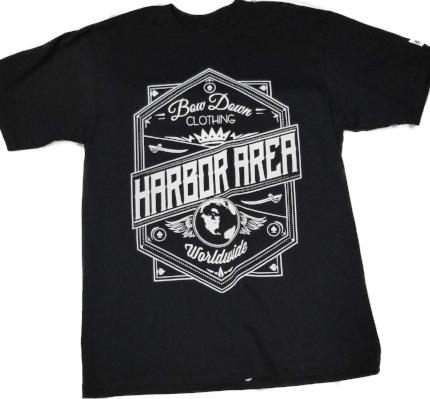 harbor area crown shirt bow  down