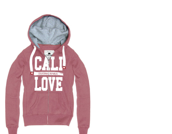 Pink Cali Love Girl's Zip-up Sweater