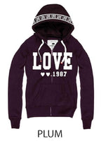 Love Lady's Pullover with zipper - Destination Store