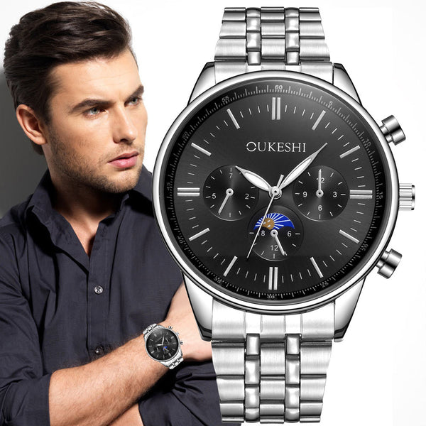Men's Stainless Steel Quartz Analog Wrist Watch Sport Watches Gifts Luxury - Destination Store