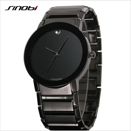 SINOBI top brand luxury men's fashion all steel waterproof watch