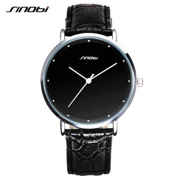 SINOBI top brand luxury watch ladies men's stainless steel fashion watch
