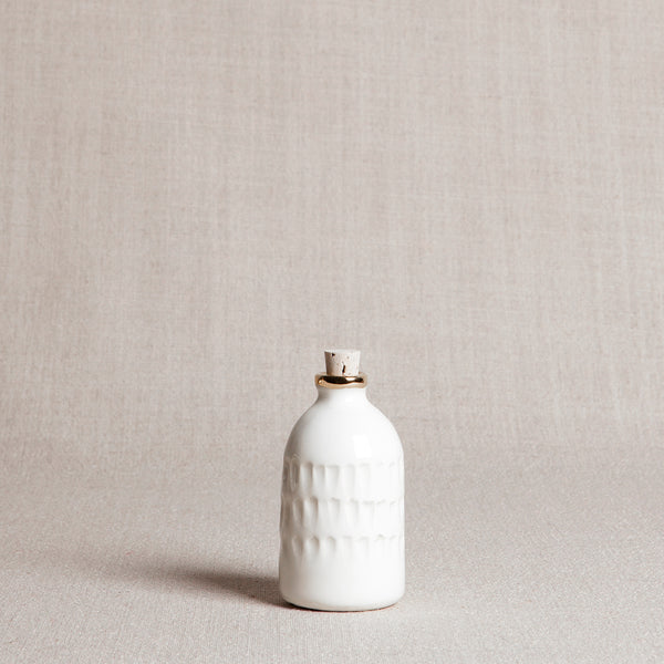 Carved Bitters Bottle with Gold Rim - Andnest.com