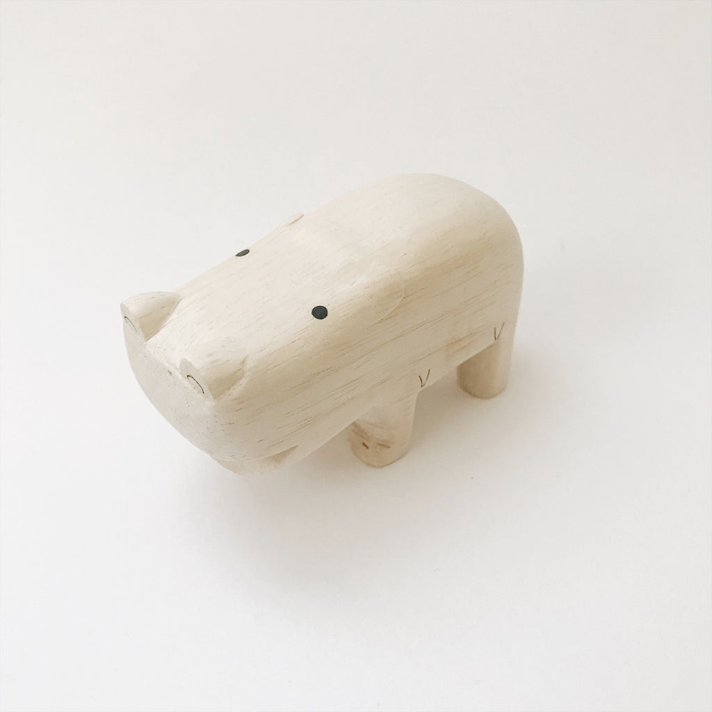 Wooden Animals - Hippo - Andnest.com