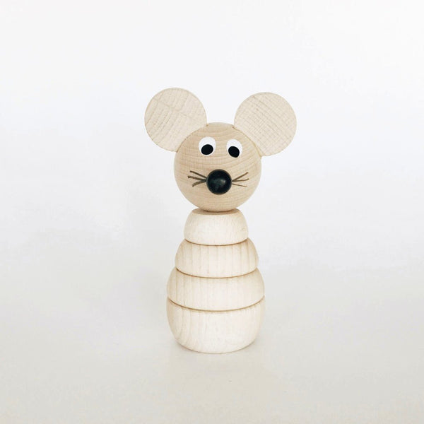 Wooden Stackable Animals - Mouse - Andnest