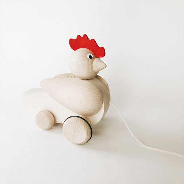 Wooden Pull-Along Rooster