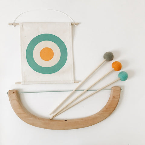 Felt Bow & Arrow Set - Green, Pink, Blue - Andnest.com