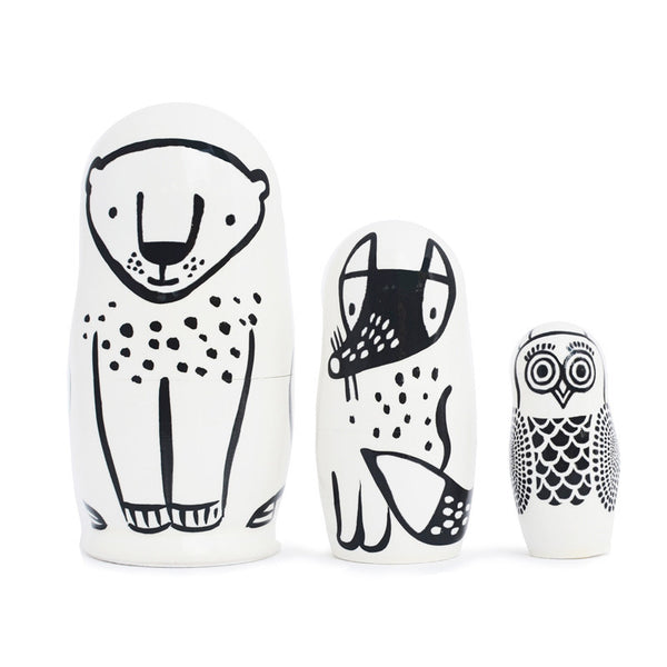 Modern Nesting Dolls - Forest Friends - Andnest