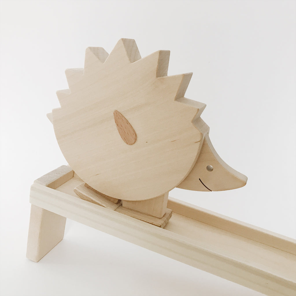 Wooden Walking Hedgehog Toy