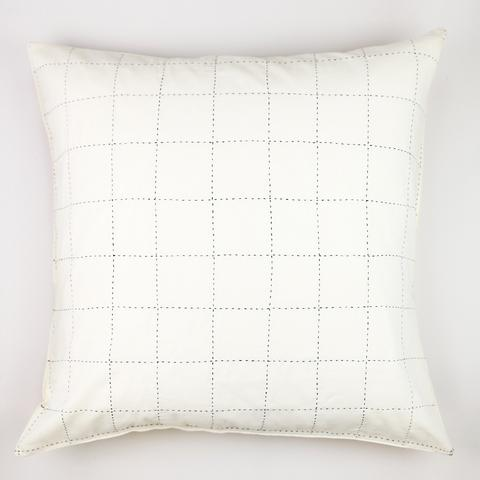 Organic Cotton Grid Euro Sham 26
