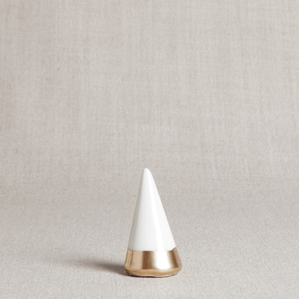 White and Gold Ring Holder - Andnest.com
