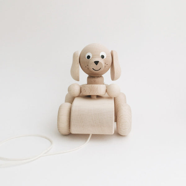Wooden Pull-Along Puppy - Andnest