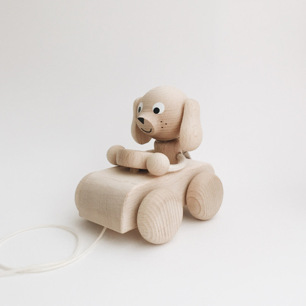 Wooden Pull-Along Puppy/Dog - Andnest.com
