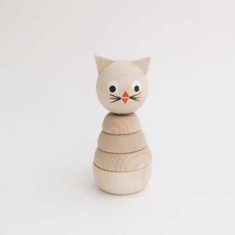 Wooden Stackable Animals - Kitty - Andnest.com